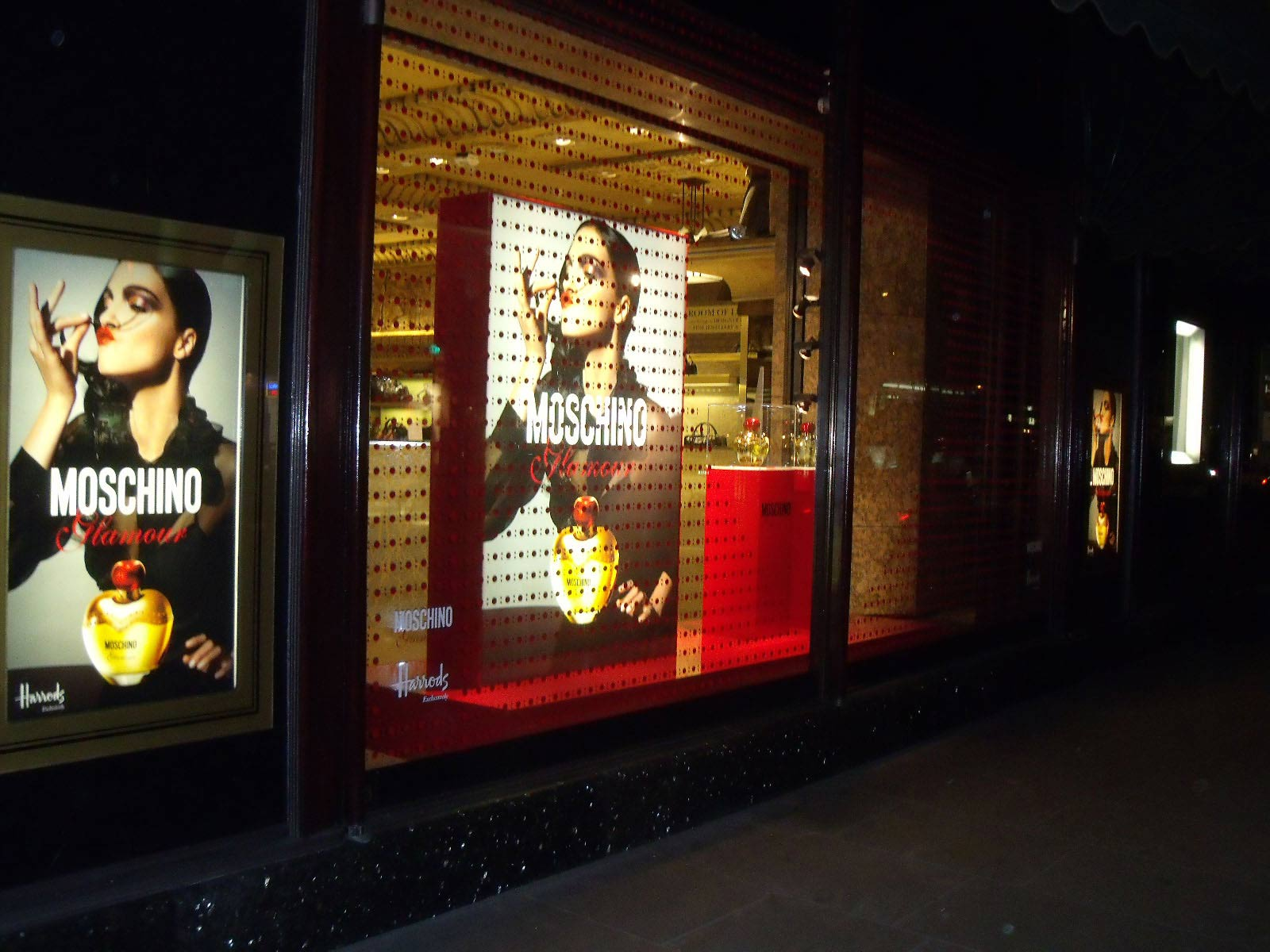 Moschino Glamour Harrods Window