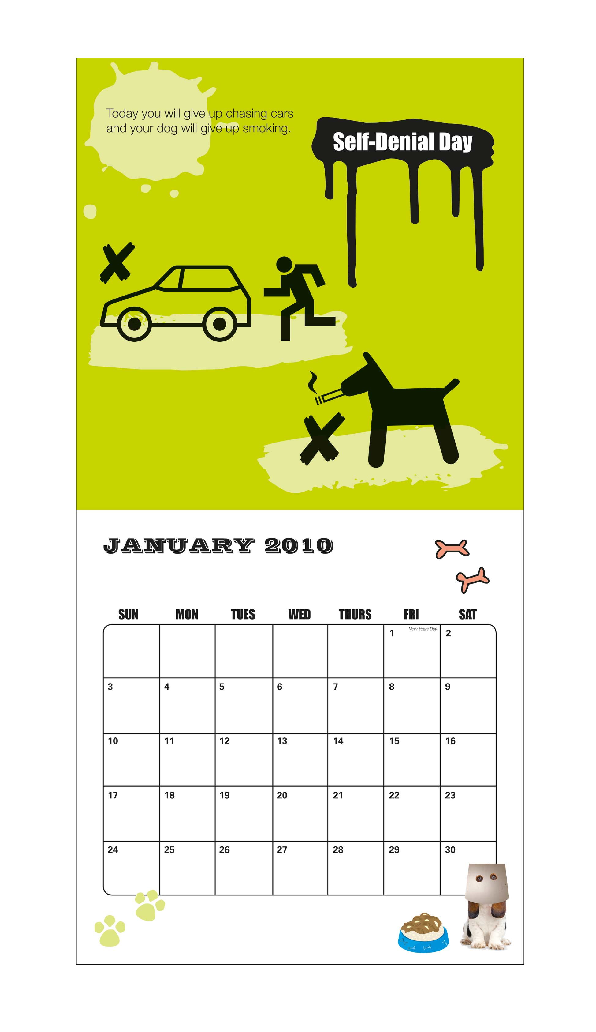 Change Your Dogs Life Calendar